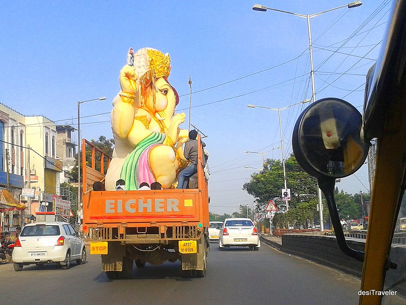 Ganesha Traveling on truck