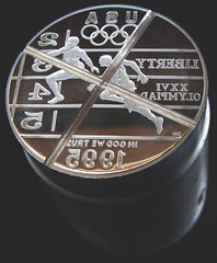 1995 Olympic dollar cancelled die