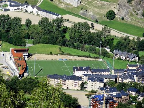 View on Ordino football ground.