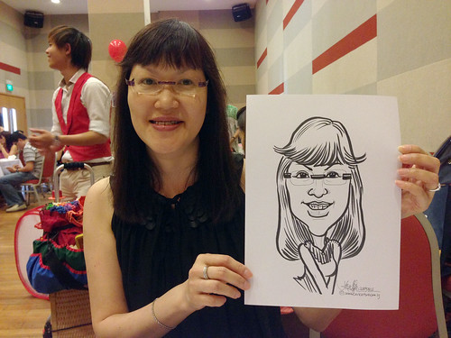 caricature live sketching for a birthday party 22 Sep 2013