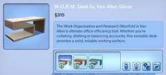 WORM Desk by Van Allen Decor