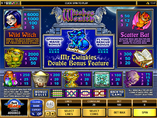 Witches Wealth Slots Payout