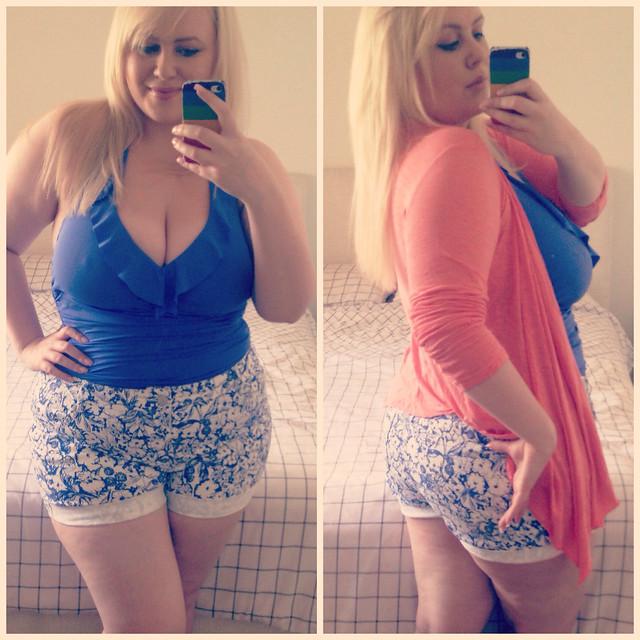 Aussie Curves - Swimsuit. Plus size swimwear. Baku blue swimsuit styling.