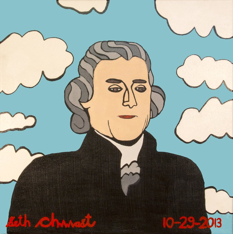 Thomas Jefferson (27 x 27 acrylic on canvas)