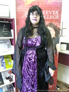 Reeves College Lloydminster Campus Students, Staff and Faculty in Halloween Costumes - Accounting & Payroll Administrator Ariel