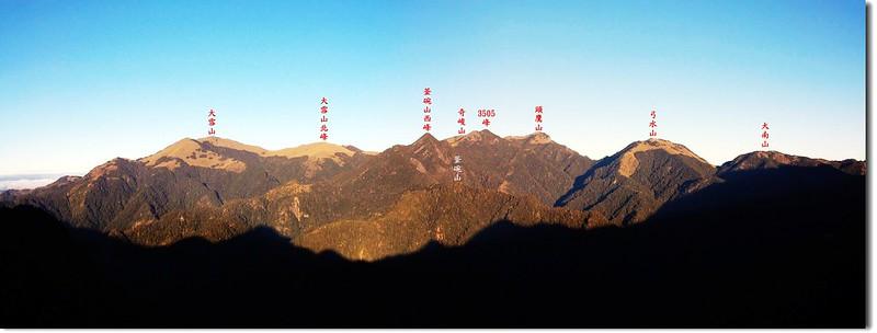 雪山西棱(From 佳陽山3116峰) 2