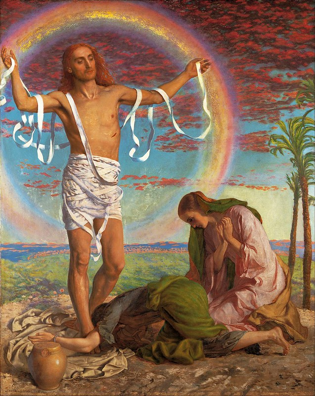 William Holman Hunt - Christ and the two Marys (c.1847)