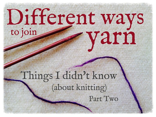 Different ways to join yarn