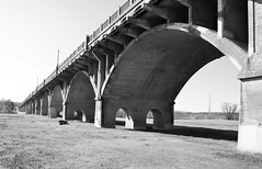 Houston St Viaduct over Trinity River, Dallas, Texas 1312241232BW