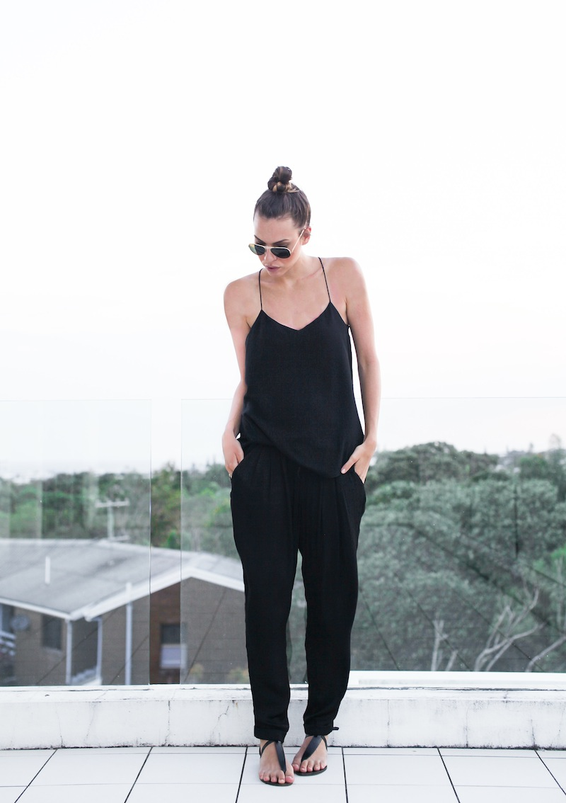 modern legacy fashion style blogger australia Camilla and Marc cami top Zara pants all black summer street style (1 of 1)