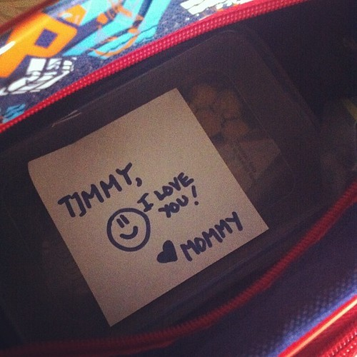 I wish I could prepare my son's lunchbox everyday.