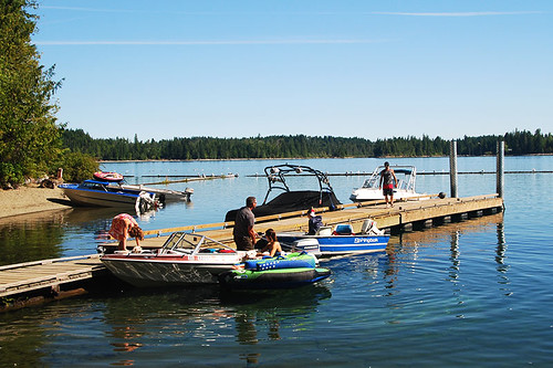 Comox Lake in Cumberland, Vancouver Island, British Columbia