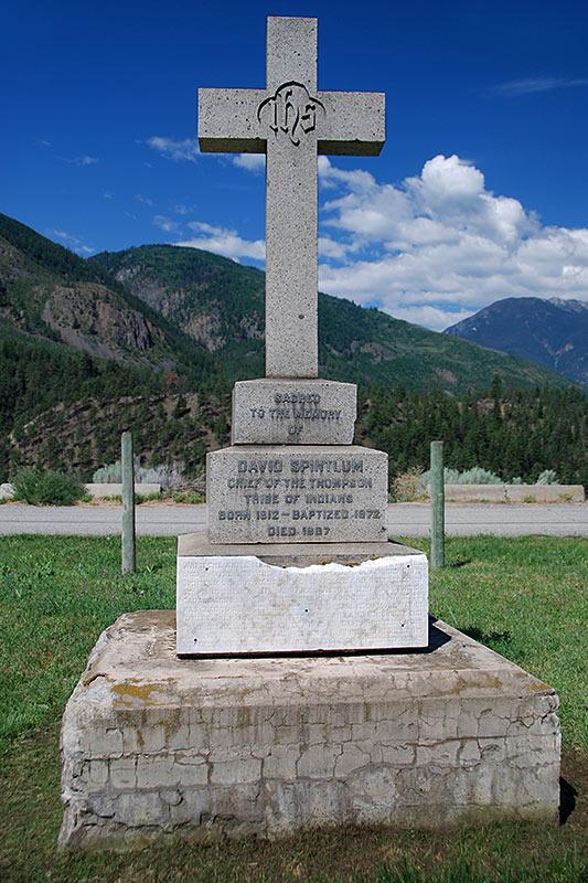 Memorial to Chief Spintlum, Lytton, Gold Country, Thompson Nicola, British Columbia, Canada