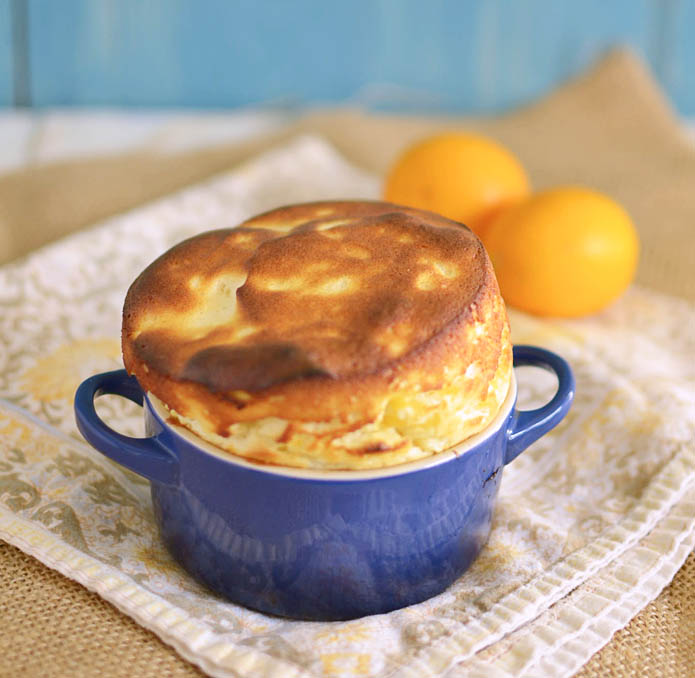 Meyer Lemon Souffle via LittleFerraroKitchen.com