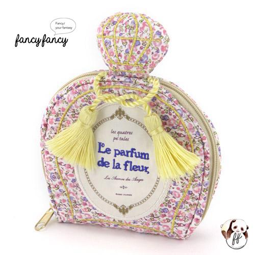 69.繽紛小花香水瓶造型隨身飾品袋-粉紅