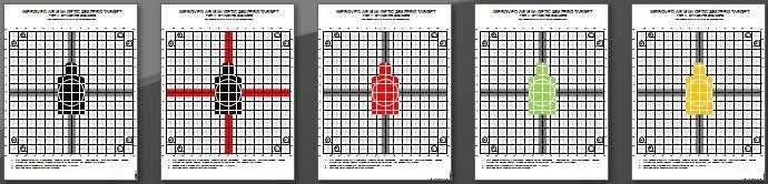 photograph about Ar15 25 Yard Zero Target Printable named Better 25M AR15A2 / A3 / A4 AR15 Carbine Zero Aims