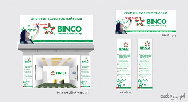 Thiết kế biển hiệu công ty tư vấn du học BINCO