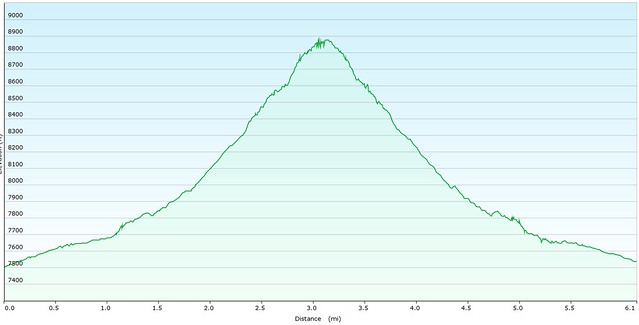 St. Marys Falls Elevation Graph
