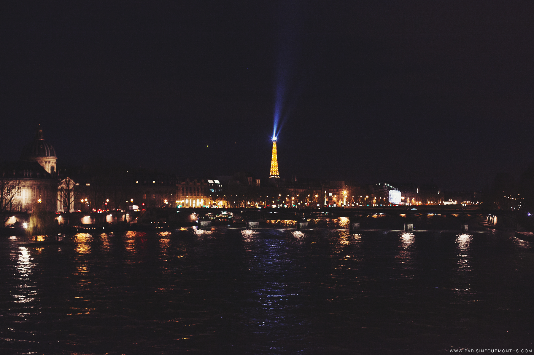 Night time in Paris by Carin Olsson (Paris in Four Months)