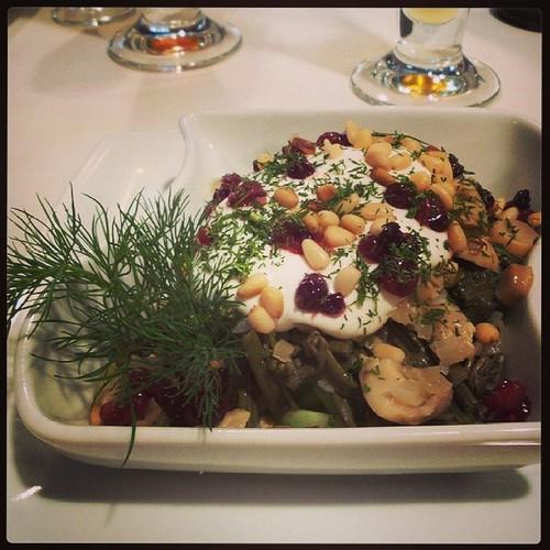 #салат с папоротником и кедровыми орешками