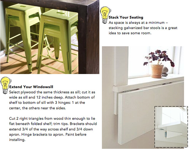 How to Fit a Dining Room into Small Spaces 2