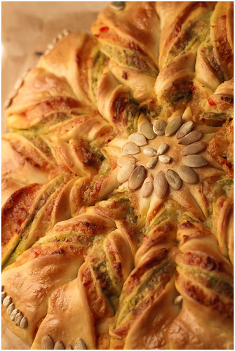 Braided Pesto Star Bread