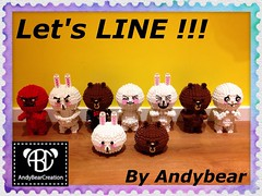 LINE Brown + Cony + Moon