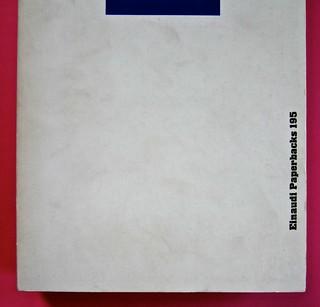 Soglie, di Gérard Genette. Einaudi 1989. Responsabilità grafica non indicata [Munari]. Copertina (part.), 4