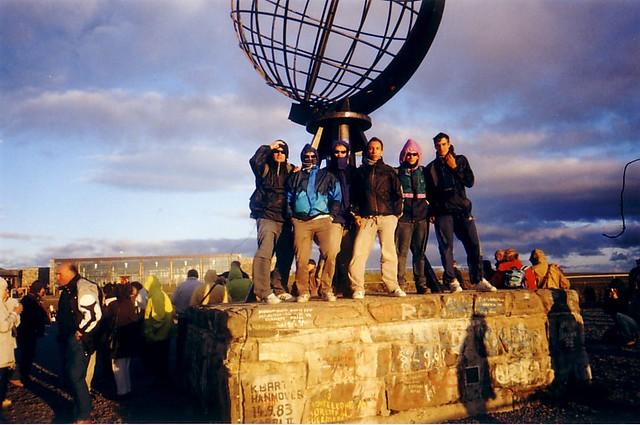 Grupo Interrail 2001 en Cabo Norte (Noruega)