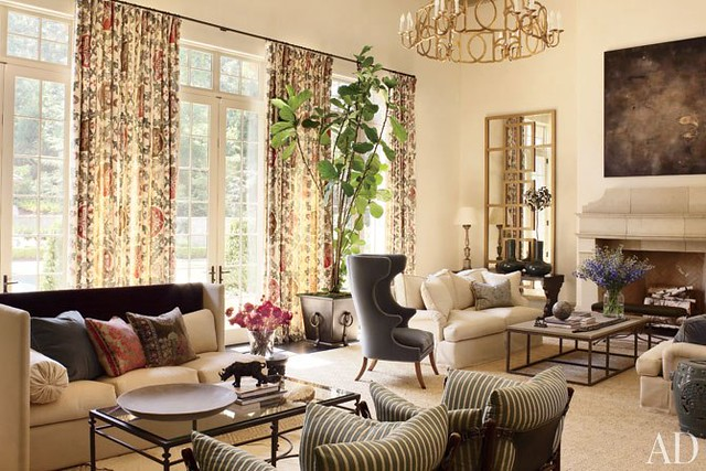 One Of The Most Pinned Images From This Article Is Great Room Which Appears Soft And Muted In Image Its A Large Has Two Seating Areas