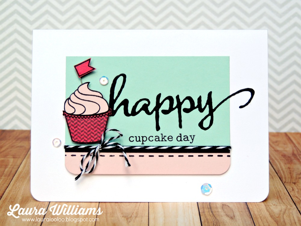 laura williams winnie and walter happy cupcake day card