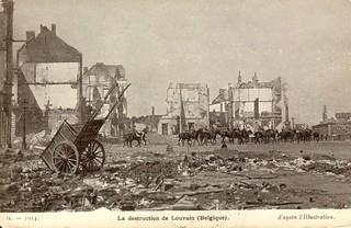 La destruction de Louvain (Belgique) (September, 1914)