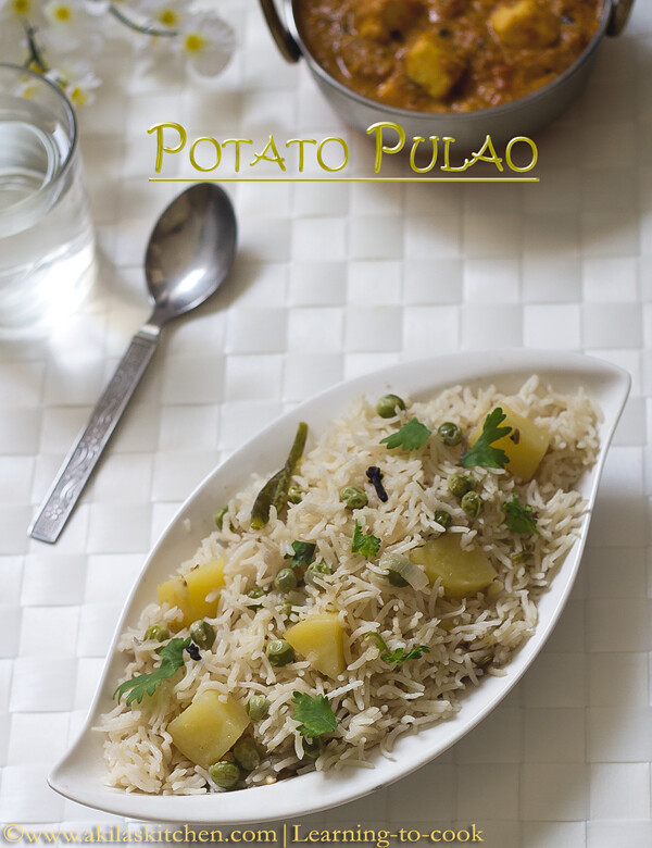 easy potato pulav