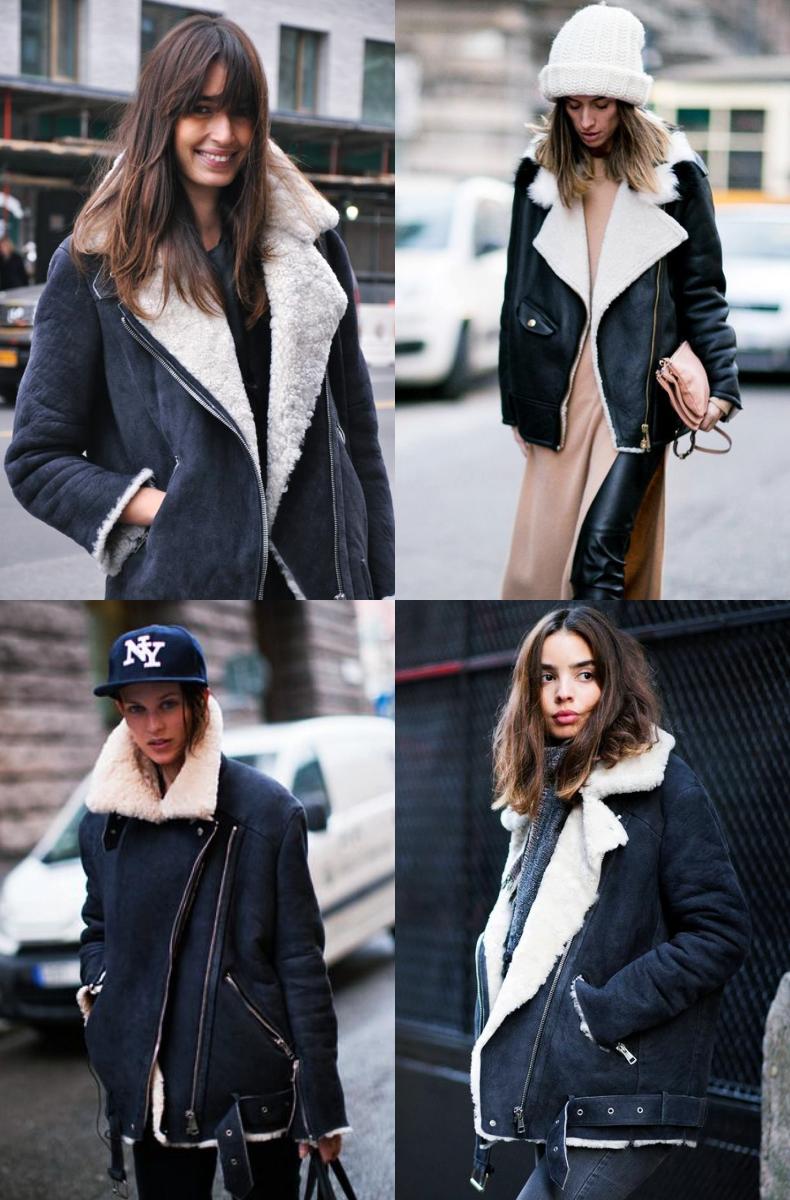 outfits con chaquetas aviador oversize