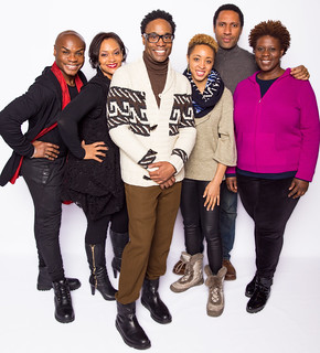 Capathia Jenkins, Nathan Lee Graham, Rema Webb, Shayna Small, and director Billy Porter in the scathing comedy by George C. Wolfe that redefined what it meant to be black in contemporary America, The Colored Museum plays March 6 — April 5, 2015 at the Avenue of the Arts / BU Theatre. Photo by Nile Hawver/Nile Scott Shots