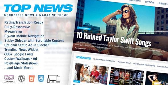 Top News v2.03 - Wordpress News & Magazine Theme