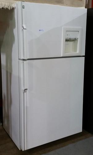 GE Profile white fridge $200