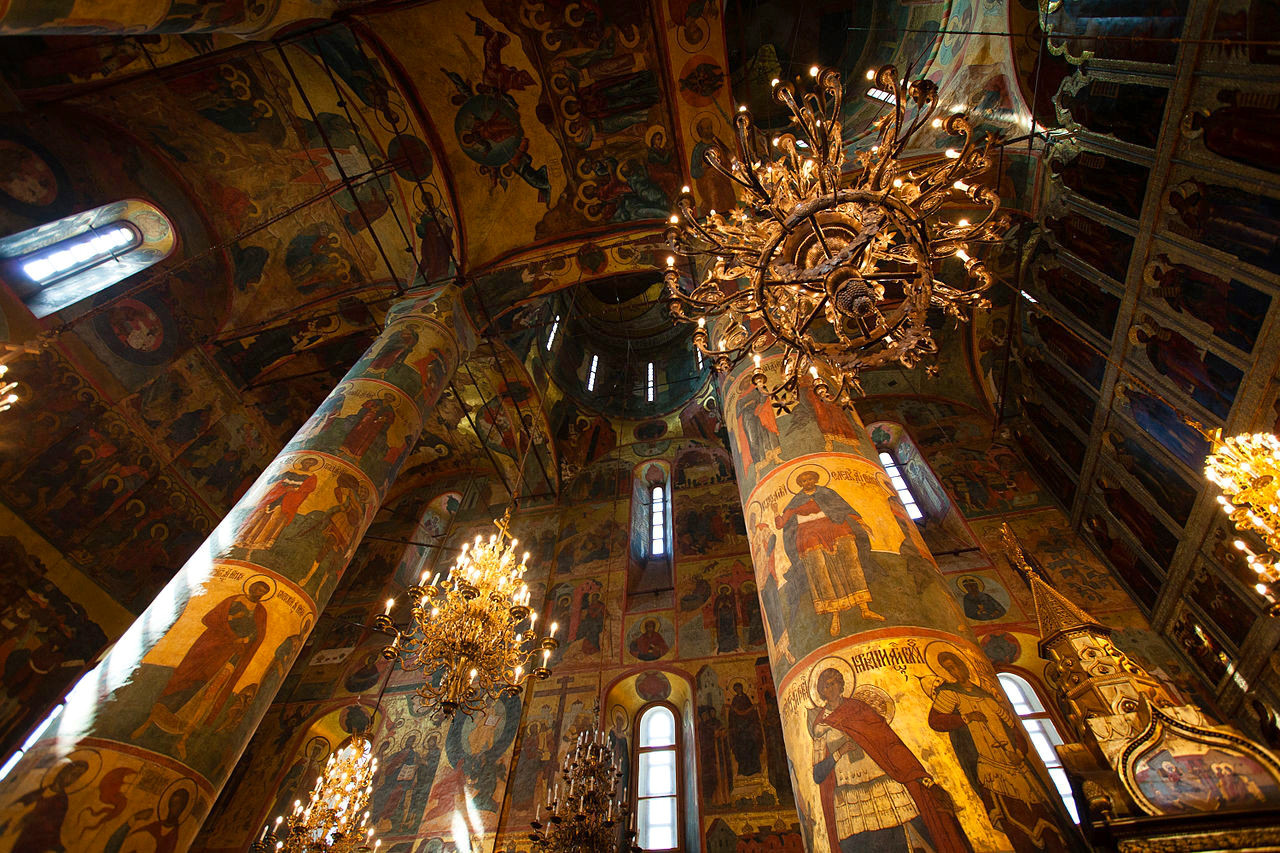 Uspensky Cathedral, Kremlin, Moscow. Credit Jummyweee