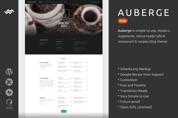 Auberge Plus v2.0.2 – WordPress Theme