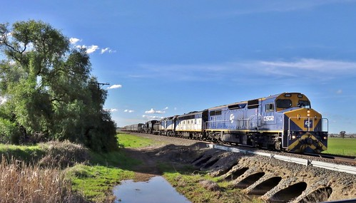 C502+S311+HL203+6029 head south through the locality of Pullabooka with 9L02 transfer train to ARHS Canberra