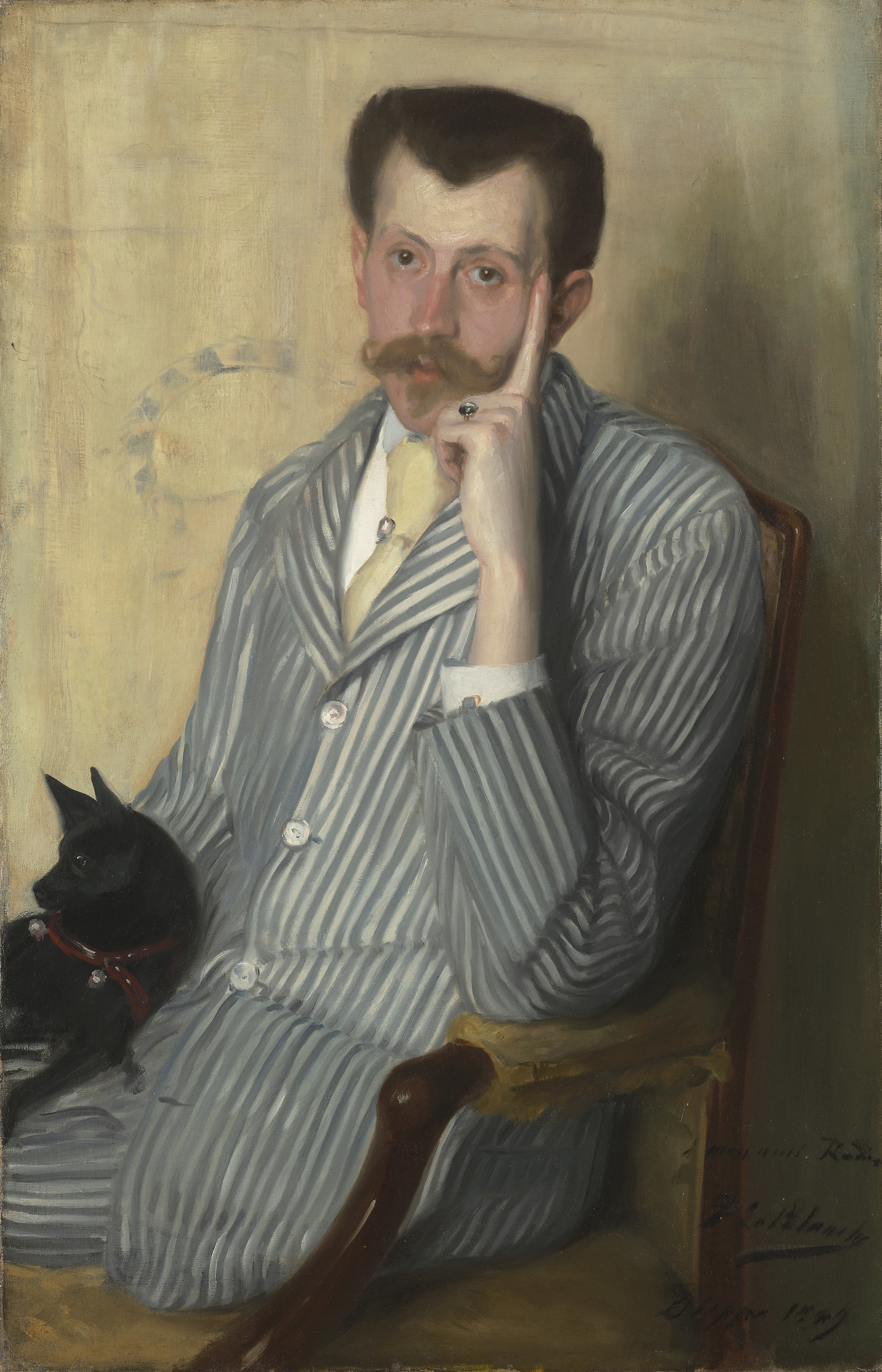 Georges Porto-Riche by Jacques-Emile Blanche, 1889