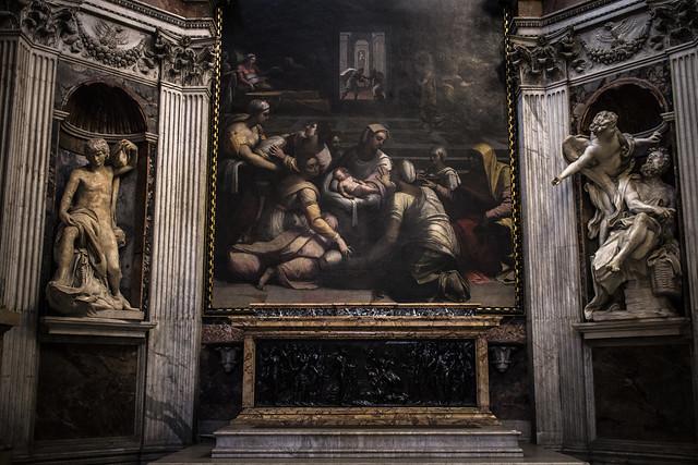 Cappella Chigi, Abacuc e l' Angelo