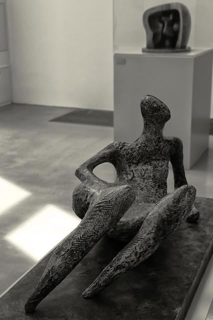 Henry Moore: Plaster model for a bronze sculpture