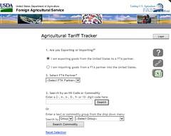 USDA Agricultural Tariff Tracker screenshot