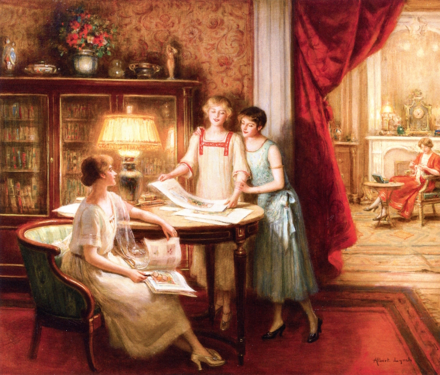 The Print Connoisseurs by Albert Lynch
