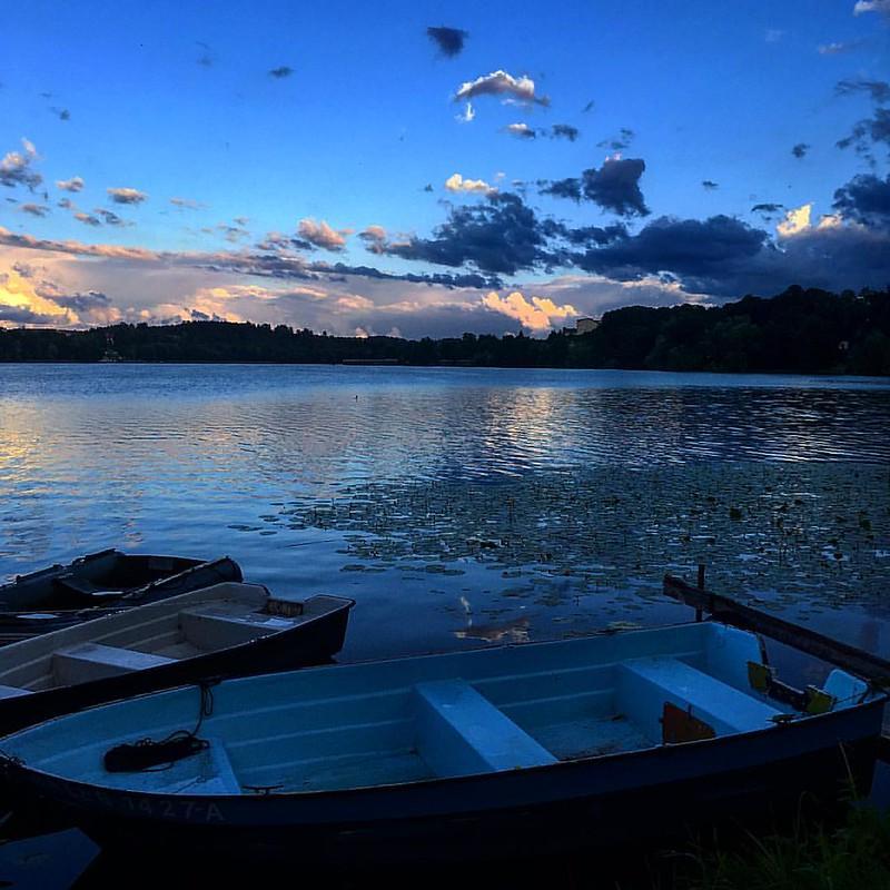 Lav kveldssol i Masuri i Polen