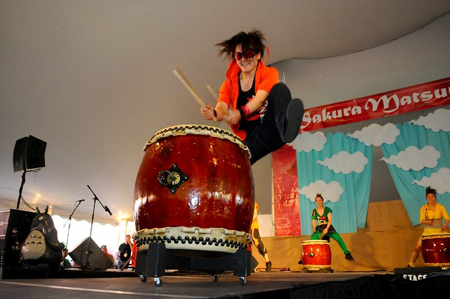 Taiko and tap group Cobu. Photo by Mike Ratliff.