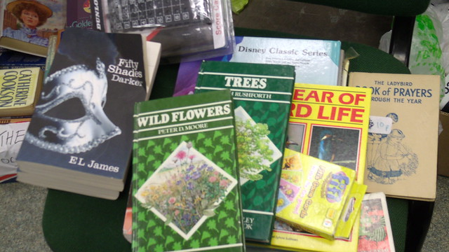 Books donated to the centre