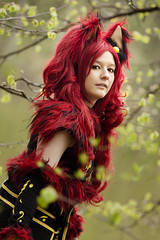 clothing, red, hair, long hair, hair coloring, costume, red hair, cosplay,