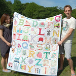 The most lovely quilt put together by my friends!